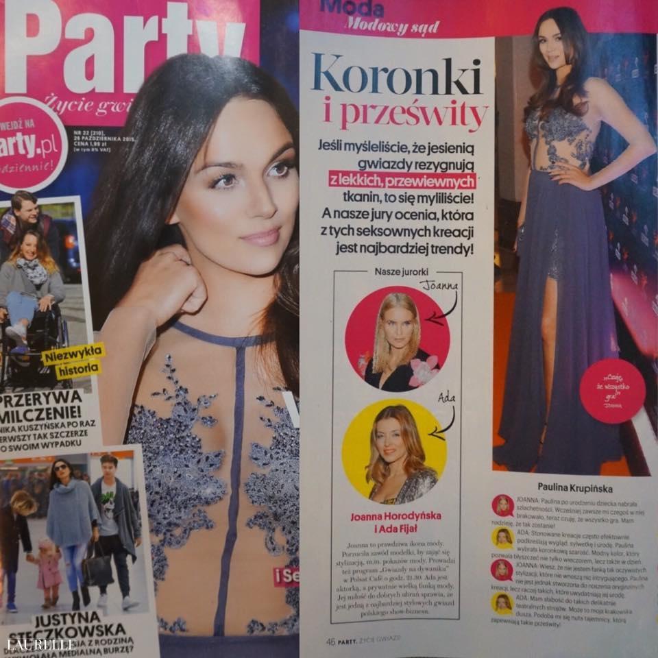 74863aed67 Paulina Krupińska na okładce Party w sukience Laurelle !