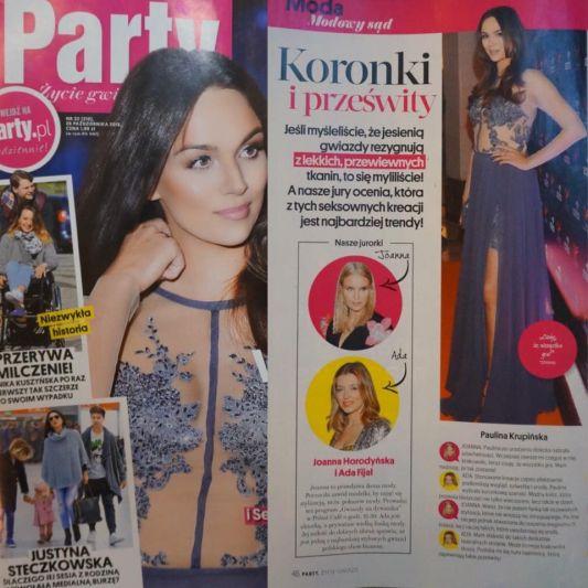 Paulina Krupińska na okładce Party w sukience Laurelle !